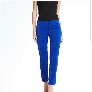 BANANA REPUBLIC Sloan Blue Velvet Pants 4